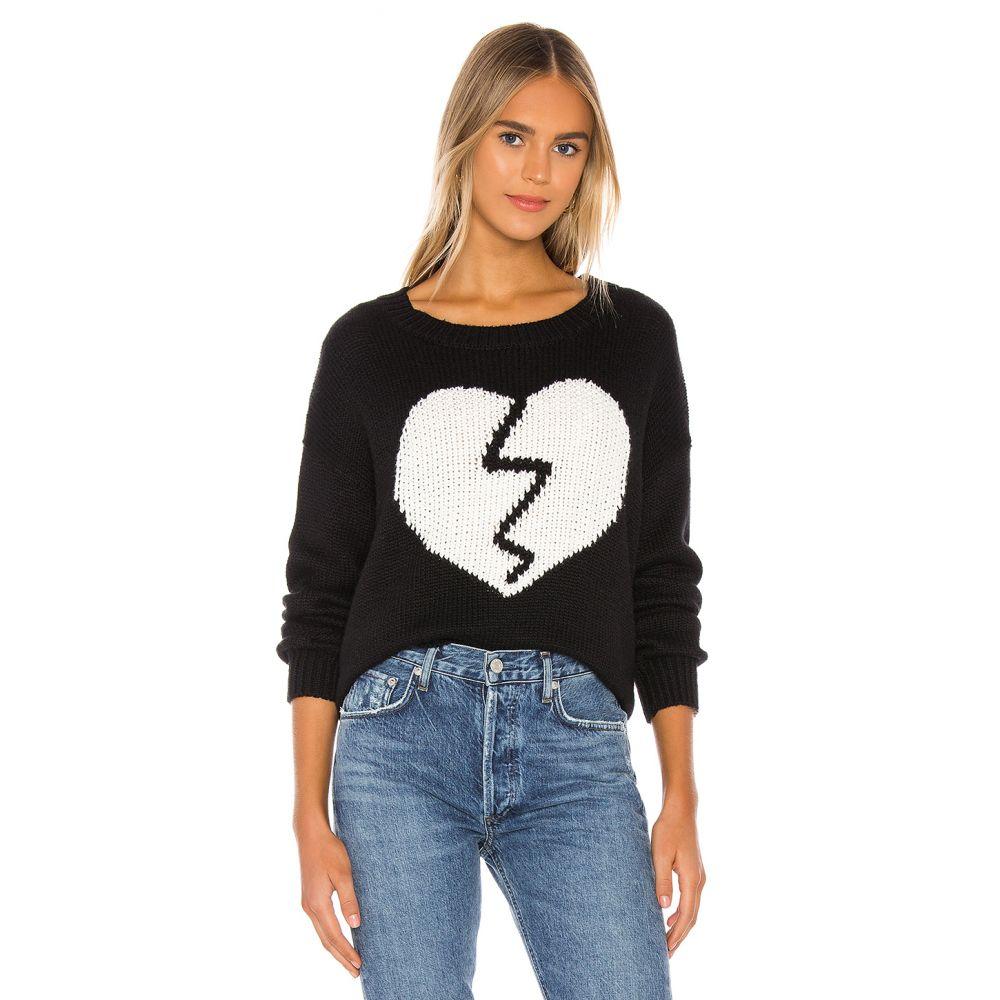 ワイルドフォックス Wildfox Couture レディース ニット・セーター トップス【Broken Heart Jella Sweater】Clean Black