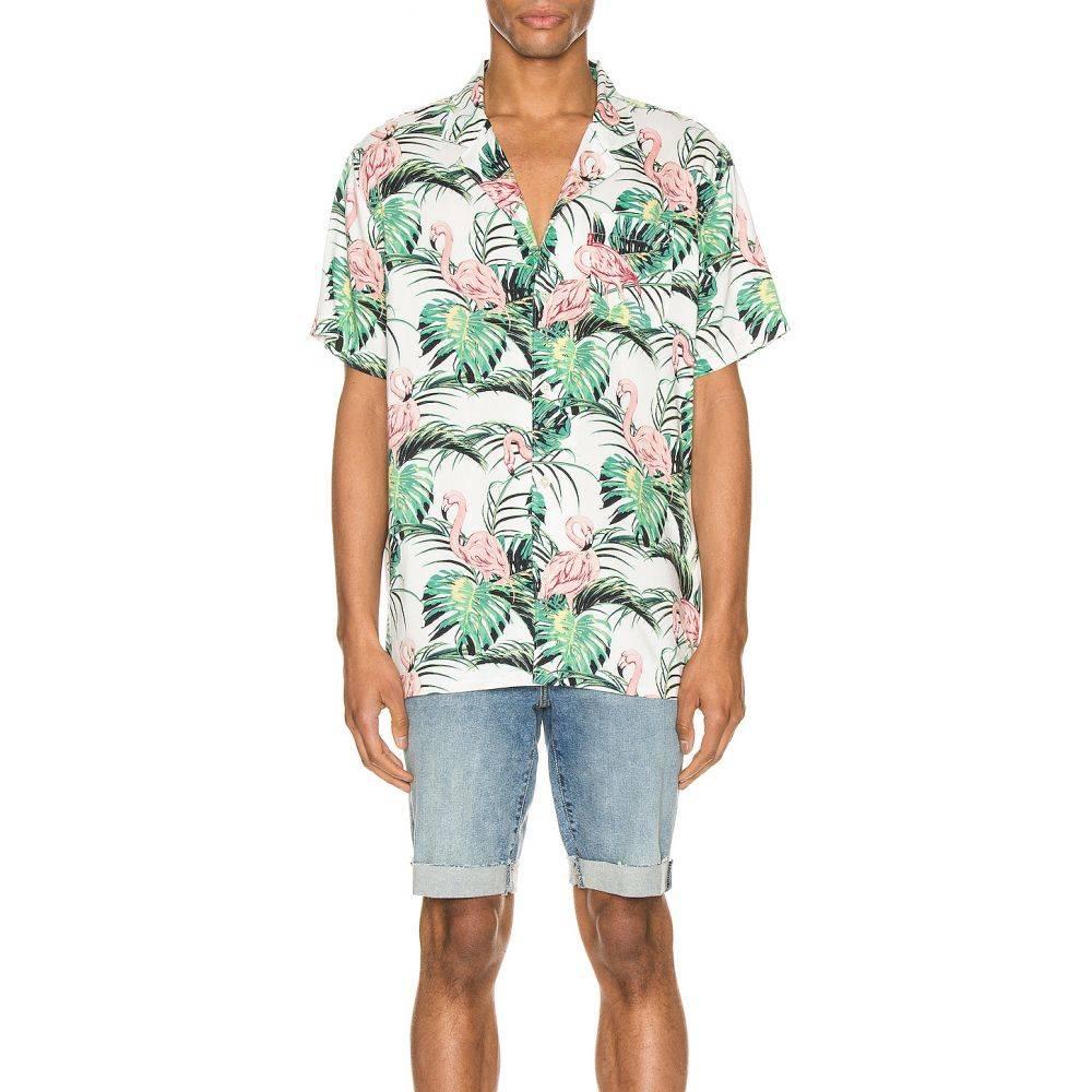 リーバイス LEVI'S Premium メンズ シャツ トップス【Cubano Shirt】Flamingo Leaf/Cloud Dancer
