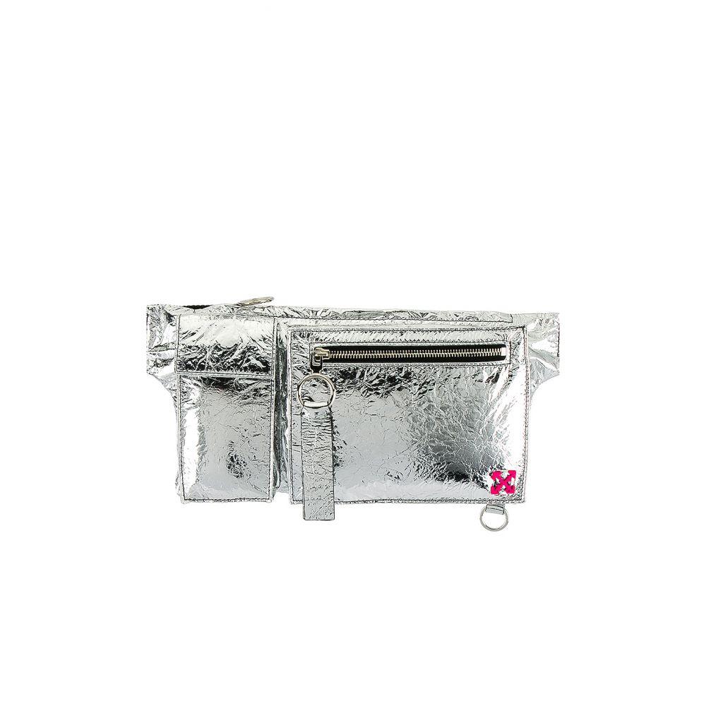 オフホワイト OFF-WHITE メンズ ボディバッグ・ウエストポーチ バッグ【Pockets Fanny Pack】Silver
