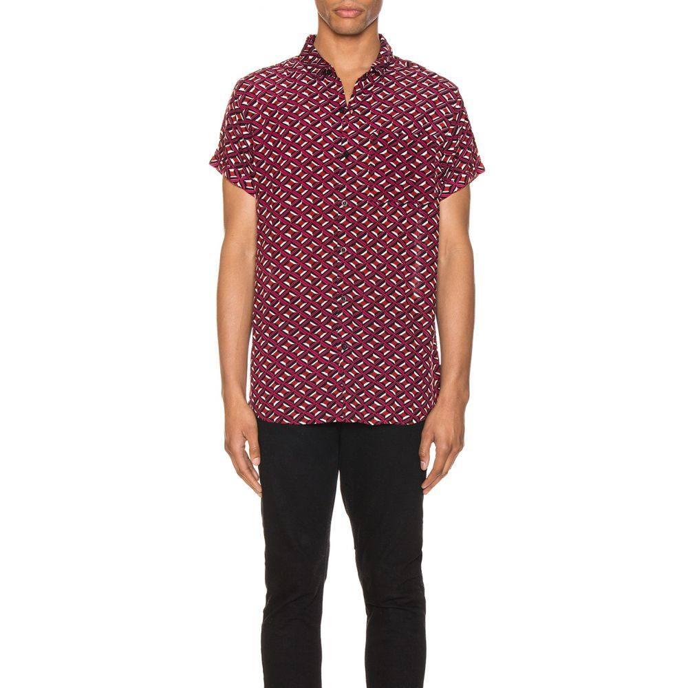 ローラズ ROLLA'S メンズ シャツ トップス【Beach Boy Shirt】Geo Diamond/Black/Berry