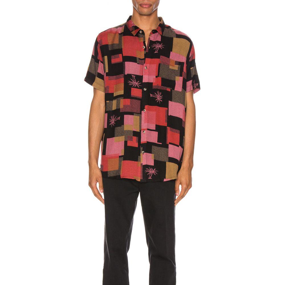 ローラズ ROLLA'S メンズ シャツ トップス【Bon Swimming Pool Shirt】Black Rock