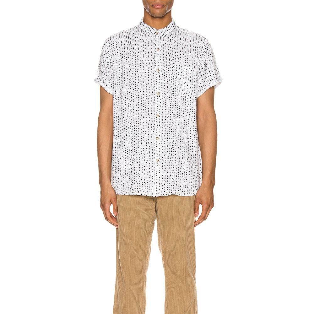 ローラズ ROLLA'S メンズ 半袖シャツ トップス【Dreamtime Dot Bon Shirt】White/Black