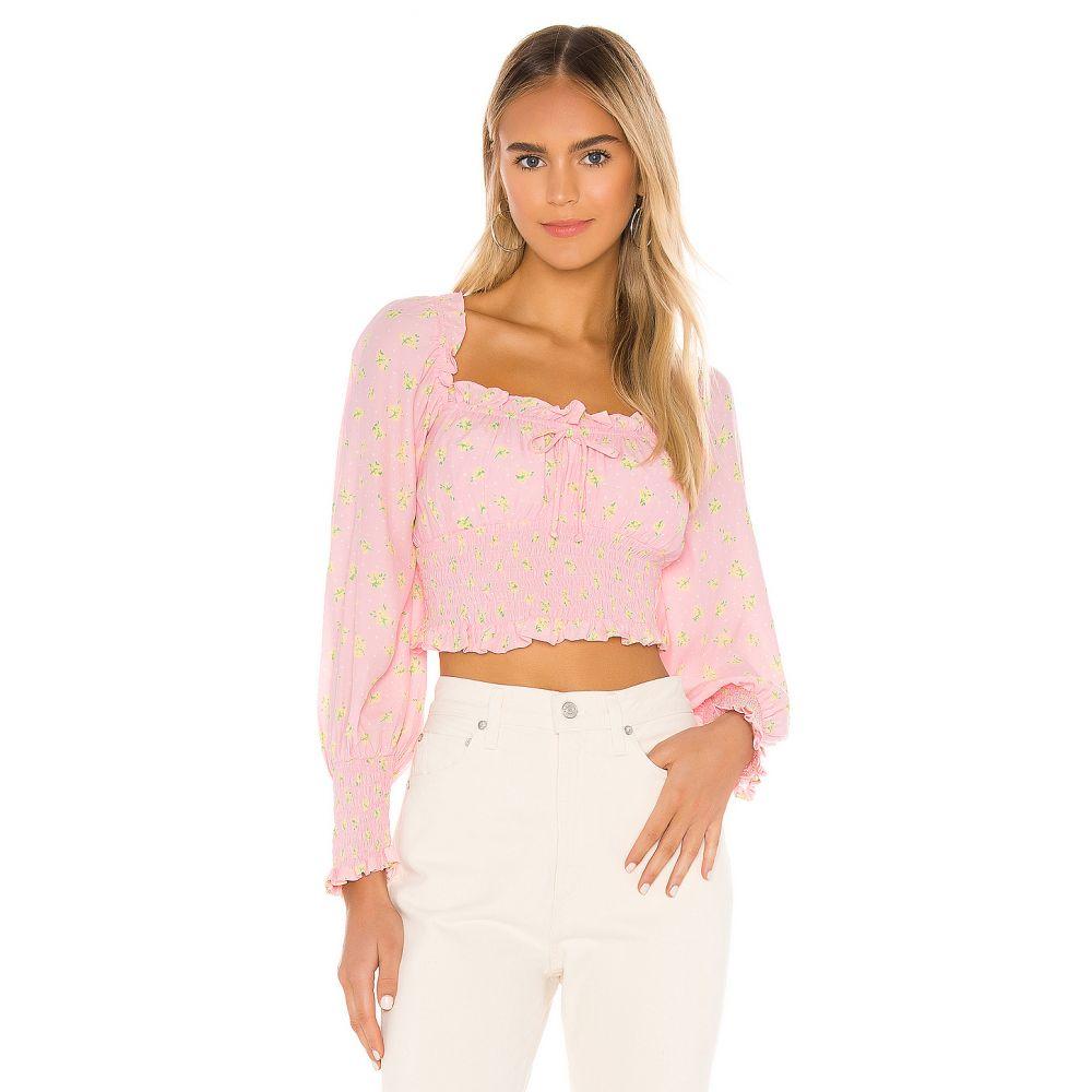 フェイスフルザブランド FAITHFULL THE BRAND レディース ブラウス・シャツ トップス【Ella Top】Pink Luda Floral