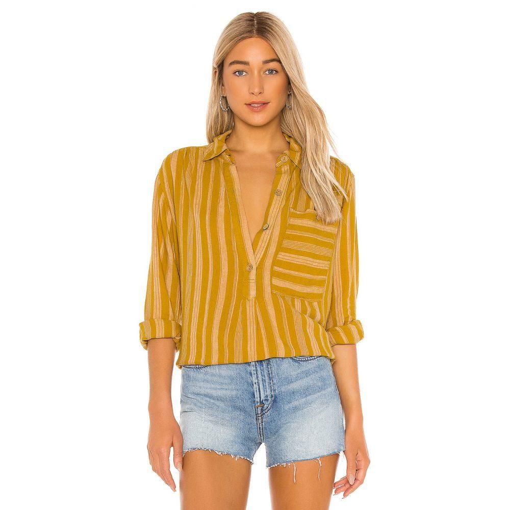 フリーピープル Free People レディース ブラウス・シャツ トップス【Summer Breeze Stripe Button Down】Yellow