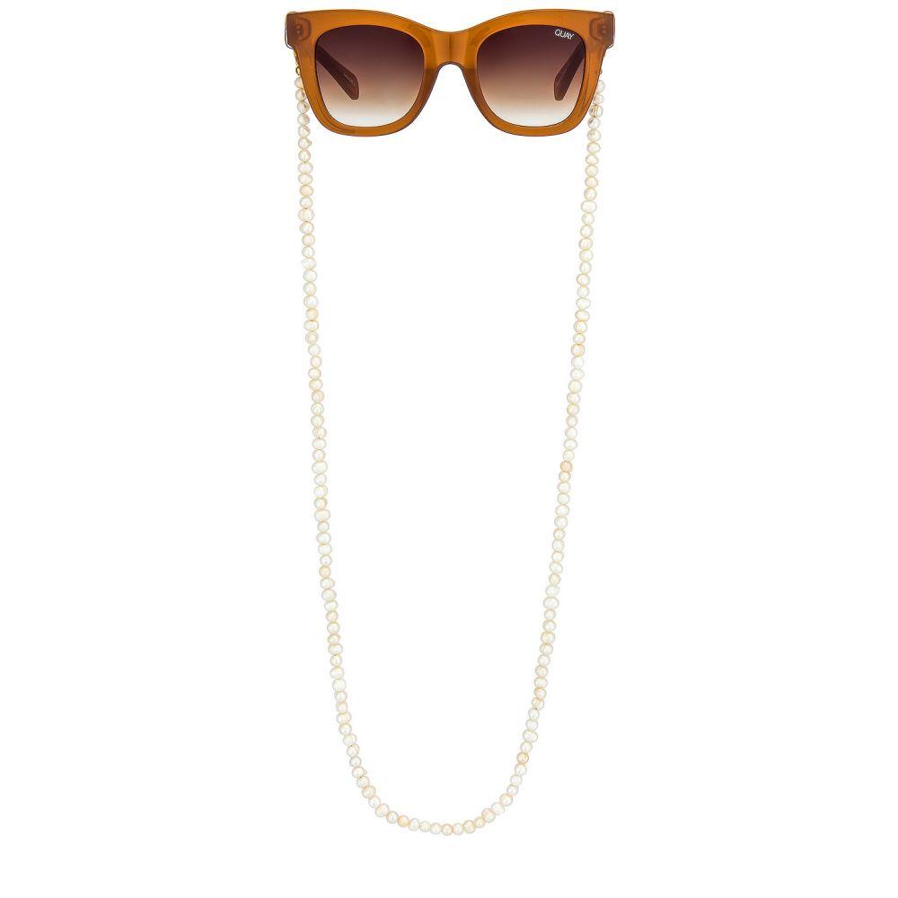 ドニーチャーム DONNI. レディース ファッション小物 【Pearl Sunglasses Chain】White Pearl