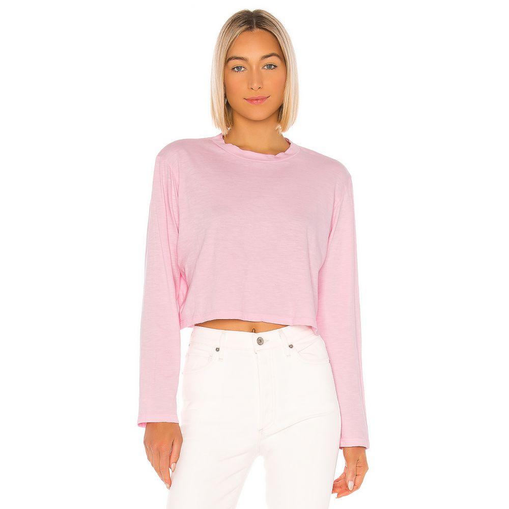 エルエヌエー LNA レディース 長袖Tシャツ トップス【Em Long Sleeve Tee】Candy Pink