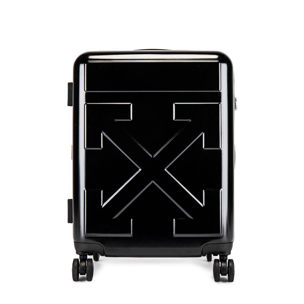 オフホワイト OFF-WHITE レディース スーツケース・キャリーバッグ バッグ【Arrow Trolly Luggage】Black