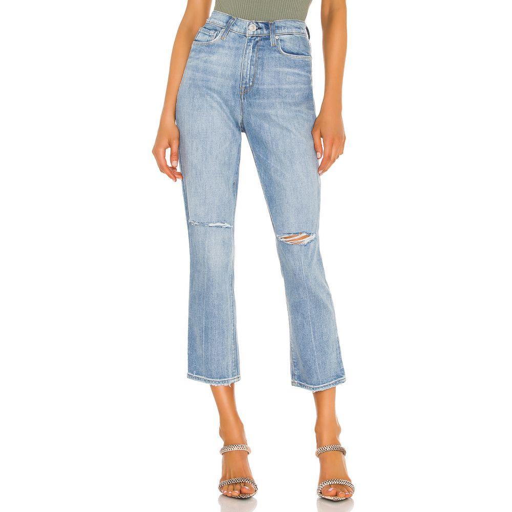 ハドソンジーンズ Hudson Jeans レディース クロップド ボトムス・パンツ【Holly High Rise Crop Straight】Destroyed Washed Out