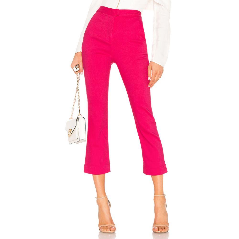 ラヴァーズフレンズ Lovers + Friends レディース クロップド ボトムス・パンツ【Janice Cropped Pants】Hot Pink