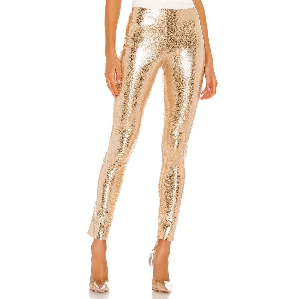 カミラ コエーリョ Camila Coelho レディース ボトムス・パンツ 【Lais Leather Legging】Gold