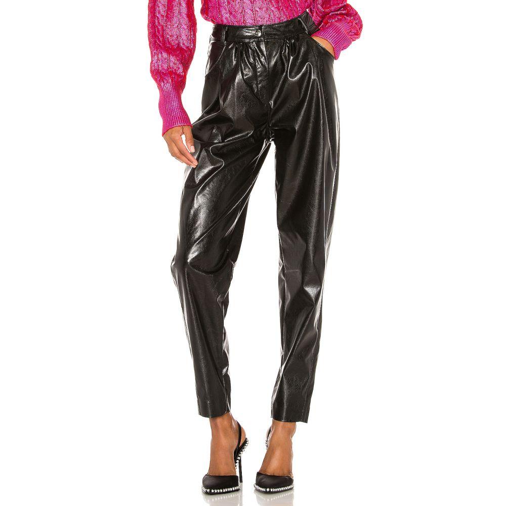エムエスジーエム MSGM レディース ボトムス・パンツ 【Faux Leather Pants】Black