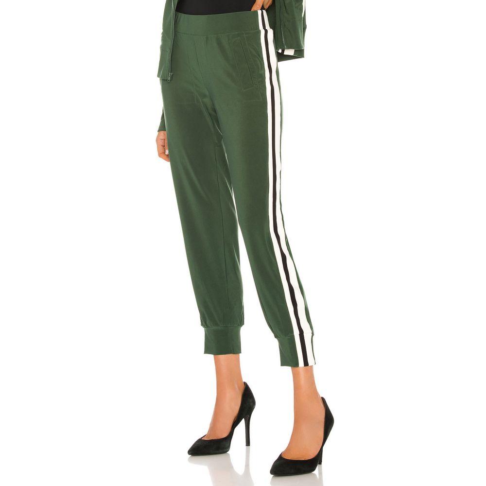 ノーマ カマリ Norma Kamali レディース ボトムス・パンツ 【Side Stripe Jog Pant】Forest Green/Offset Stripe