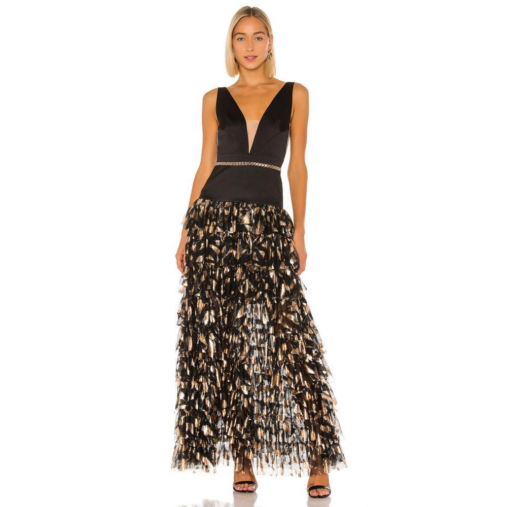 ブロンクス アンド バンコ Bronx and Banco レディース パーティードレス ワンピース・ドレス【Maya Gown】Black/Gold