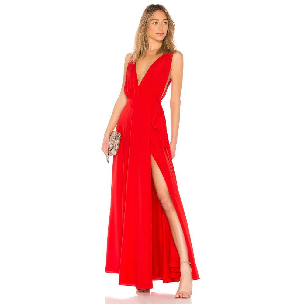 ラヴァーズフレンズ Lovers + Friends レディース パーティードレス ワンピース・ドレス【Leah Gown】Red Rose