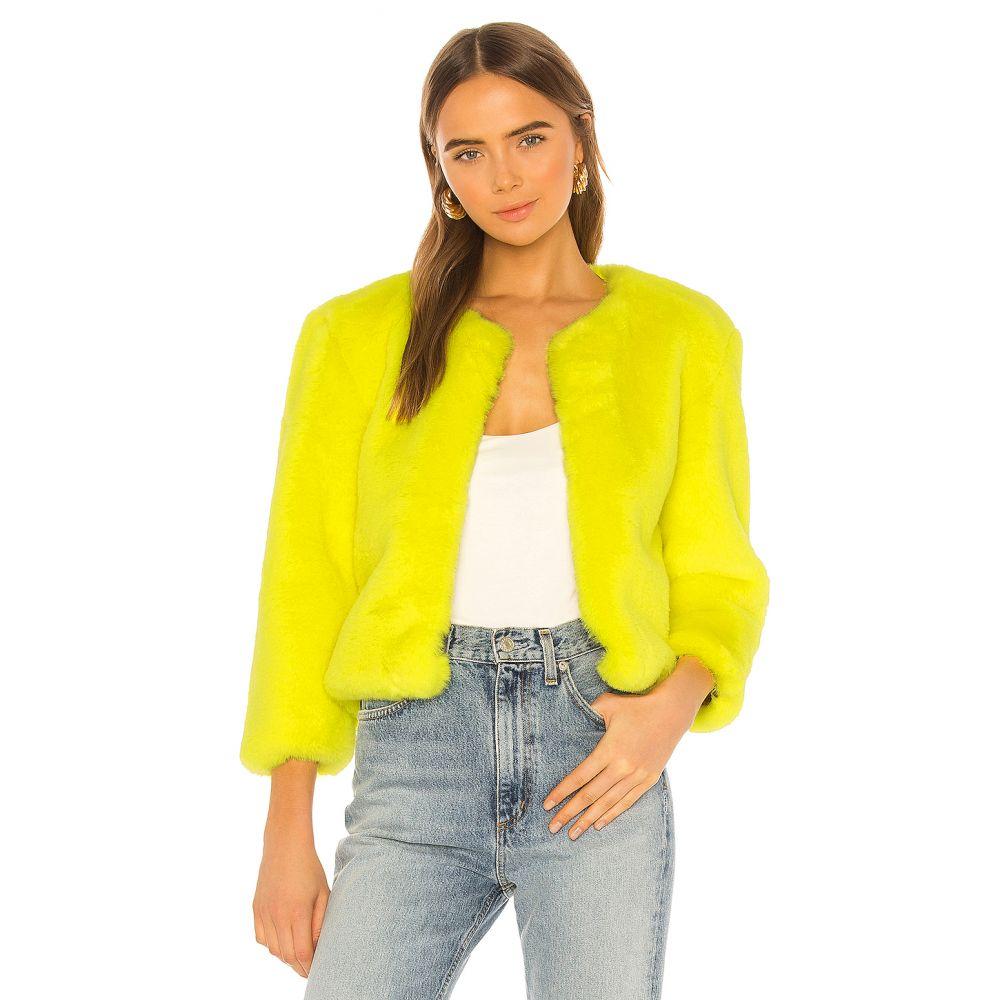 セントラルパークウェスト Central Park West レディース ジャケット アウター【Miami Faux Fur Chubbie Jacket】Yellow