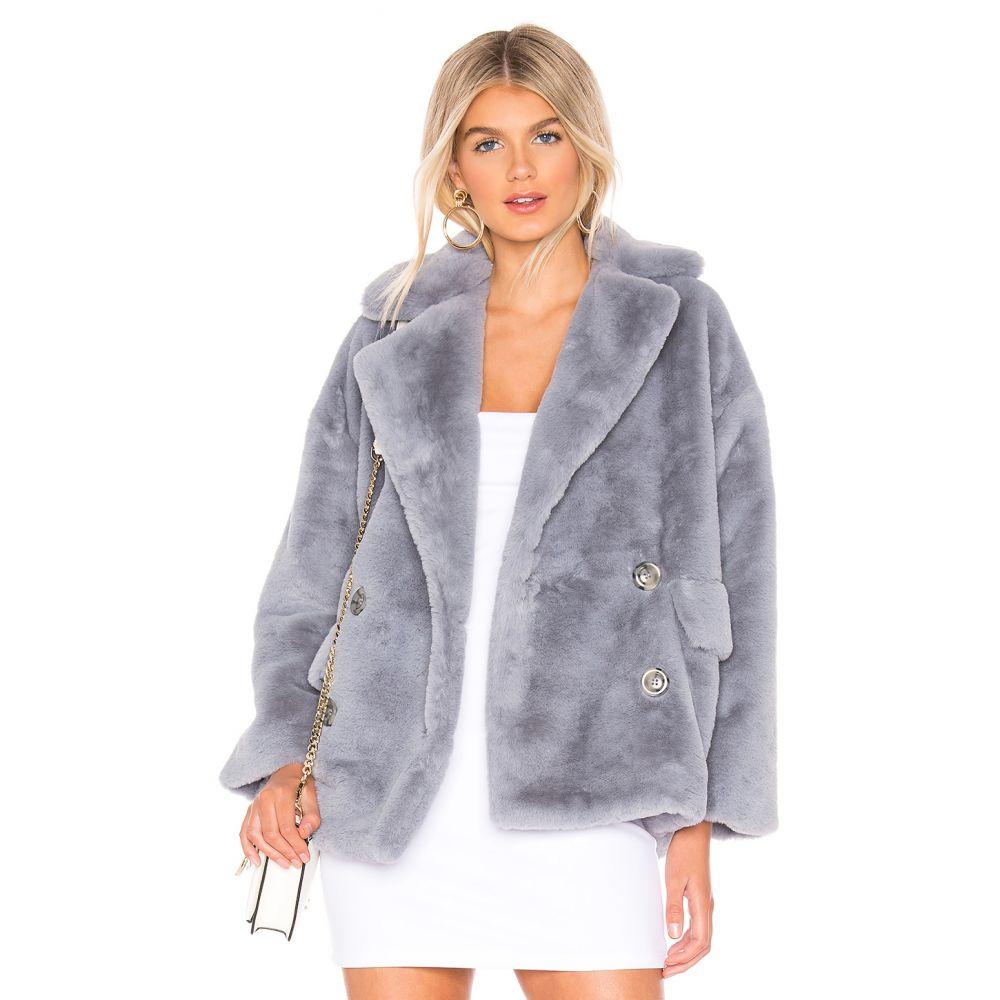 フリーピープル Free People レディース コート アウター【Solid Kate Faux Fur Coat】Sky