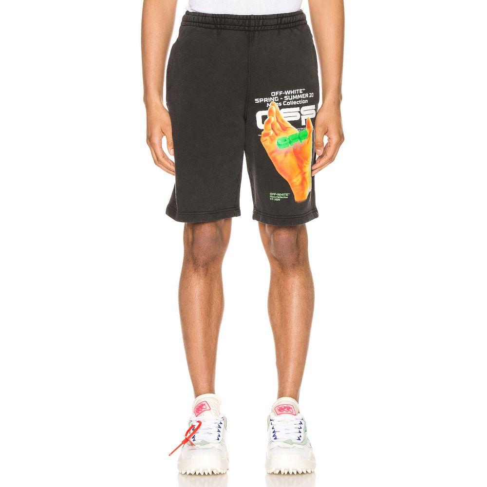 オフホワイト OFF-WHITE メンズ ショートパンツ ボトムス・パンツ【Hand Logo Sweatshorts】Black Multi