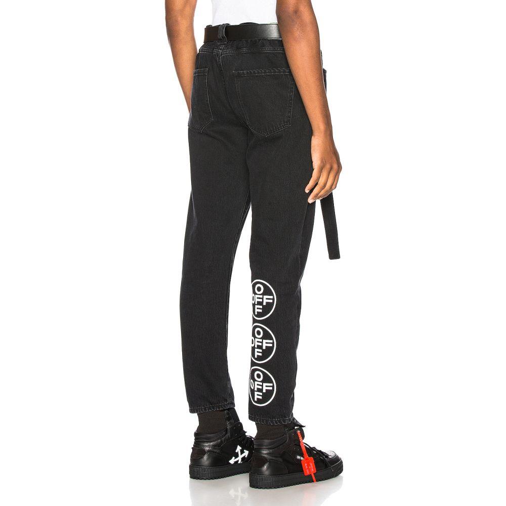 オフホワイト OFF-WHITE メンズ スキニー・スリム ボトムス・パンツ【EXCLUSIVE Slim Low Crotch Pants】Black