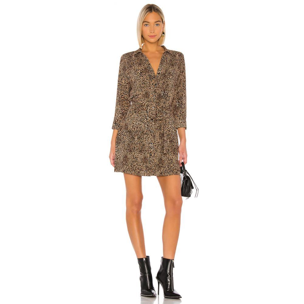 ワンステート 1. STATE レディース ワンピース ワンピース・ドレス【Leopard Muse Patch Pocket Shirt Dress】Caramel Multi