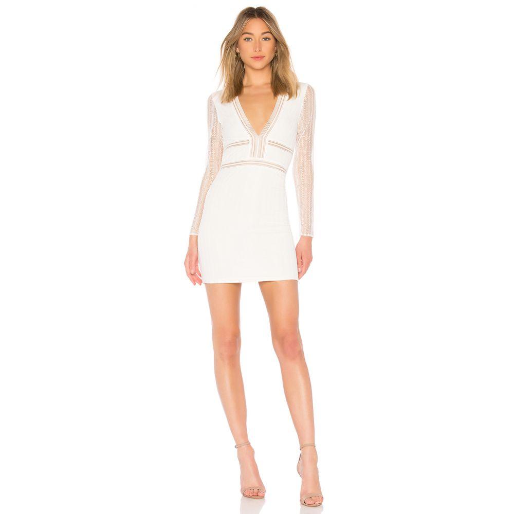 スーパーダウン superdown レディース ボディコンドレス ワンピース・ドレス【Lauri White Deep V Lace Bodycon】White Lace