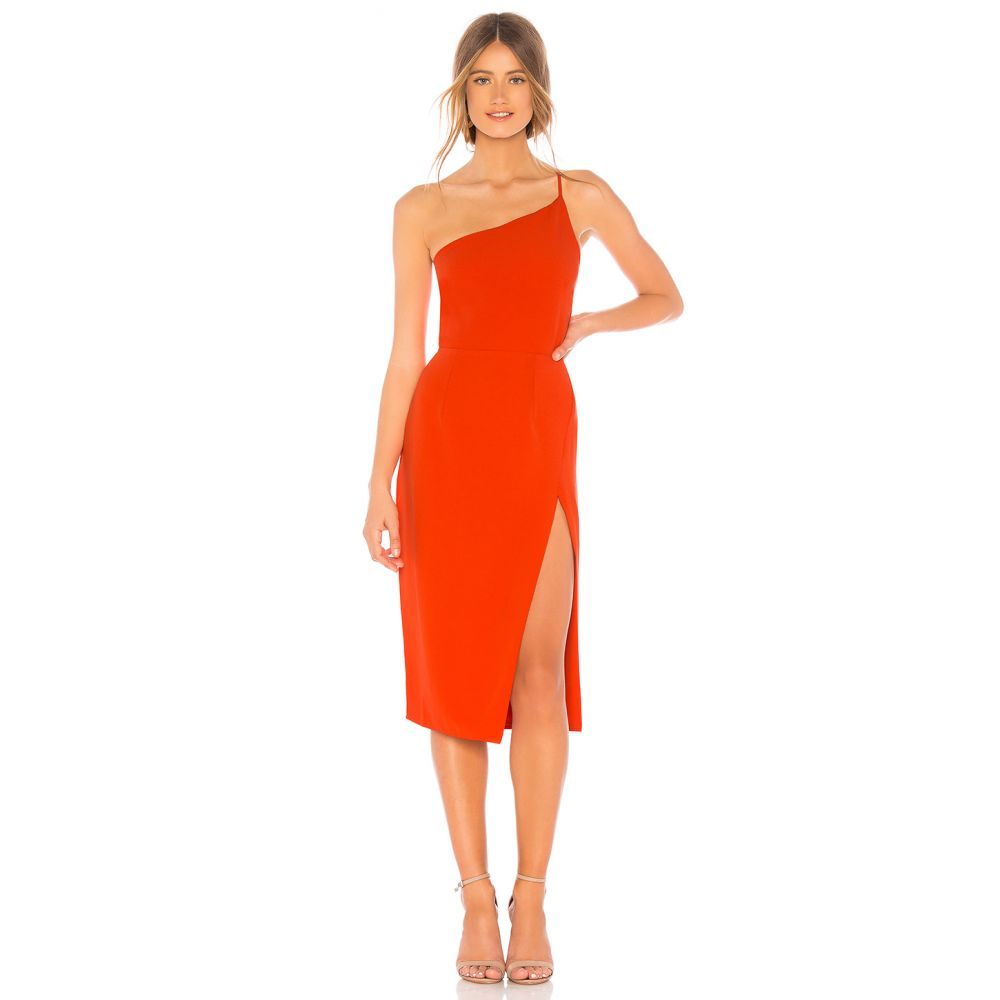 ラヴァーズフレンズ Lovers + Friends レディース ボディコンドレス ワンピース・ドレス【Lazo Midi Dress】Blood Orange