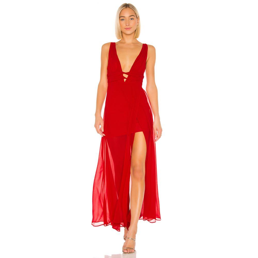 ラヴァーズフレンズ Lovers + Friends レディース パーティードレス ワンピース・ドレス【Melina Gown】Flame Scarlet