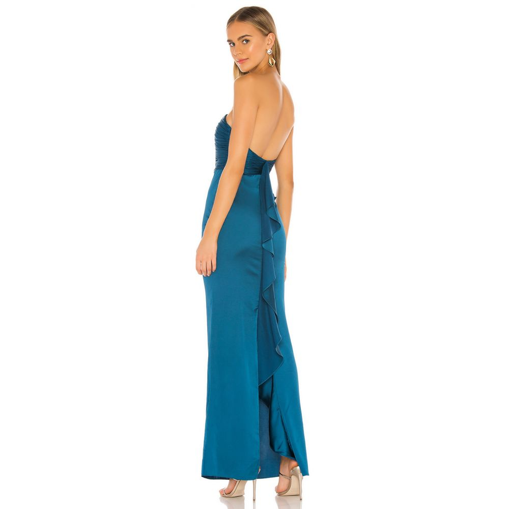 ラヴァーズフレンズ Lovers + Friends レディース パーティードレス ワンピース・ドレス【Donna Gown】Moroccan Blue