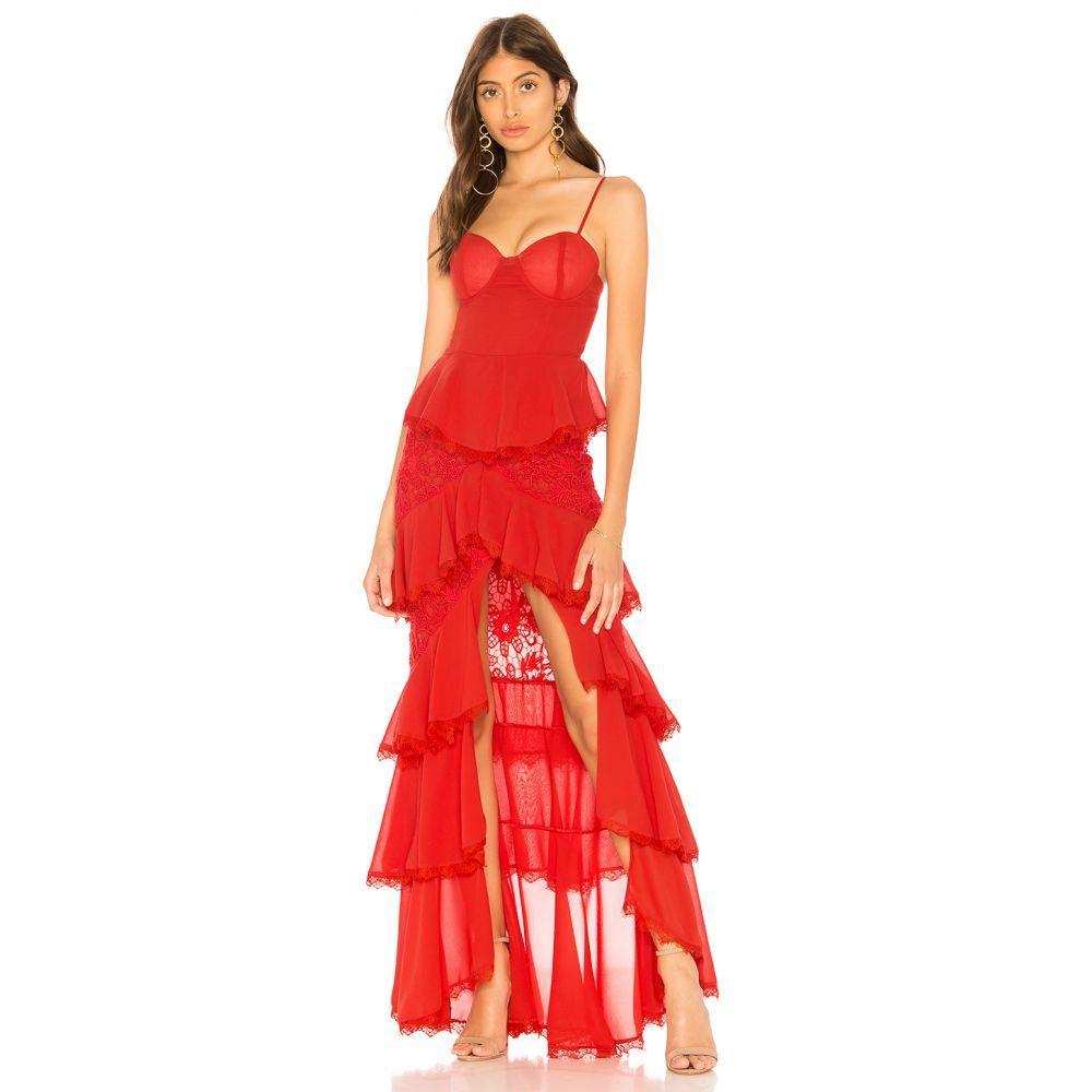 マジョレル MAJORELLE レディース パーティードレス ワンピース・ドレス【Zelda Fitz Gown】Red
