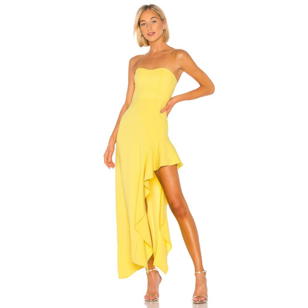 エヌビーディー NBD レディース パーティードレス ワンピース・ドレス【Floreena Gown】Yellow