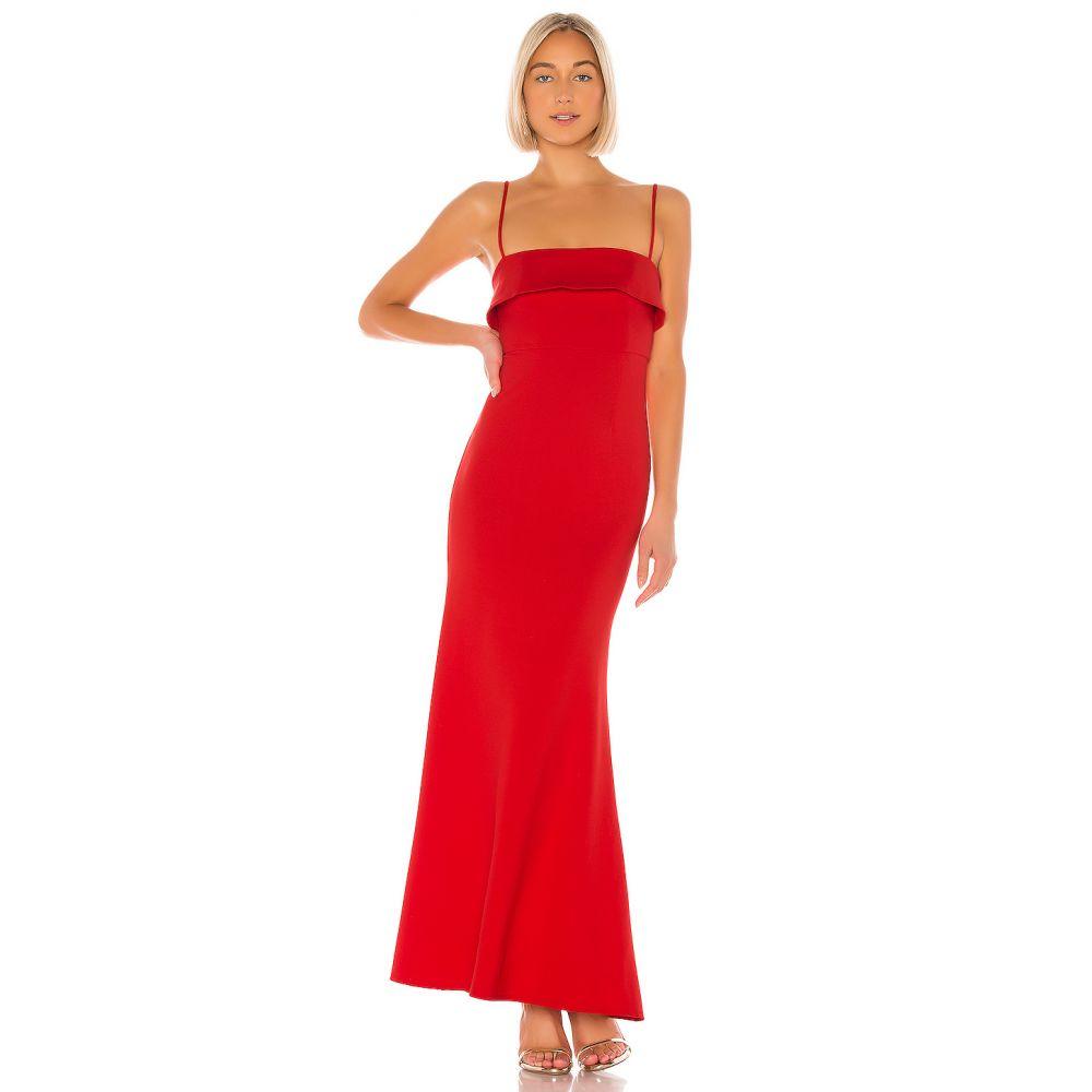 エヌビーディー NBD レディース パーティードレス ワンピース・ドレス【Uzi Gown】Red Orange
