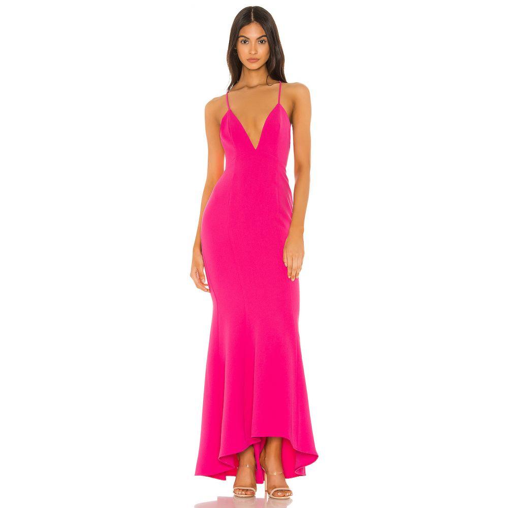 エヌビーディー NBD レディース パーティードレス ワンピース・ドレス【Mindy Gown】Hot Pink