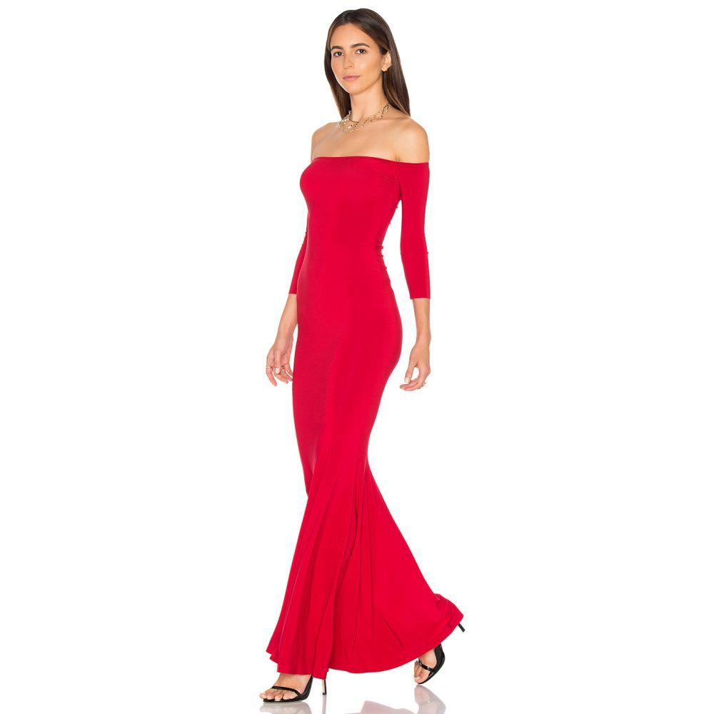 ノーマ カマリ Norma Kamali レディース パーティードレス ワンピース・ドレス【Off The Shoulder Fishtail Gown】Red