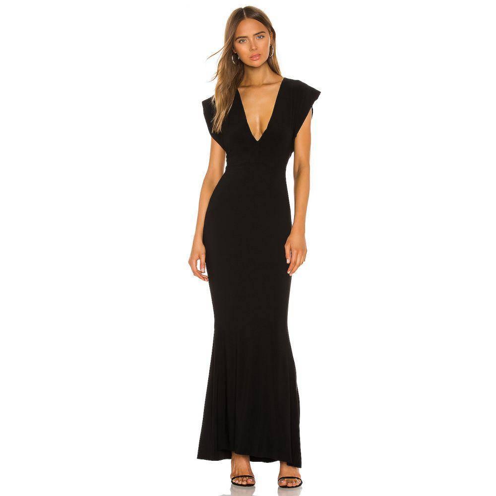 ノーマ カマリ Norma Kamali レディース パーティードレス ワンピース・ドレス【X REVOLVE V Neck Rectangle Gown】Black