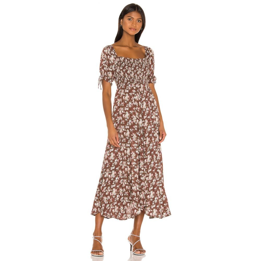 オーギュスト AUGUSTE レディース ワンピース ワンピース・ドレス【Matilda Nina Midi Dress】Brown