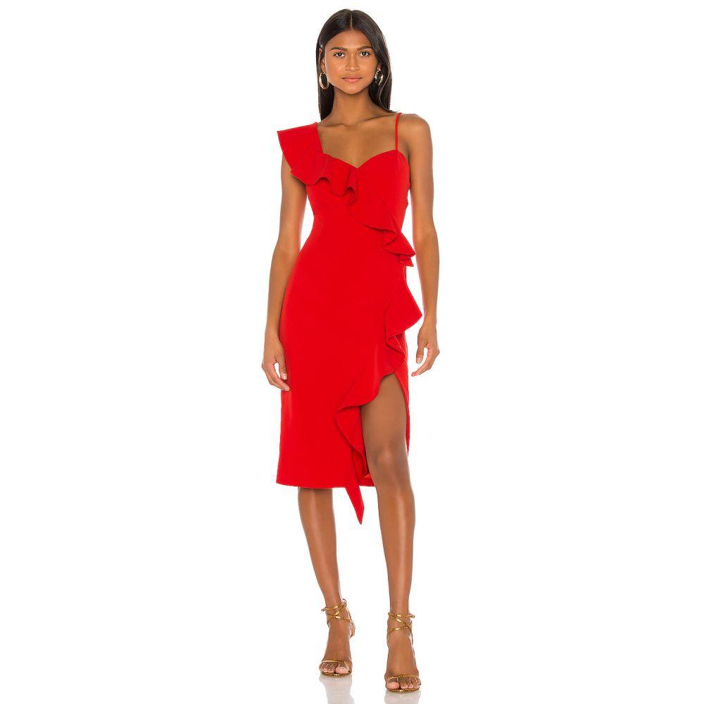 バルドー Bardot レディース ワンピース ワンピース・ドレス【Destiny Frill Dress】Red
