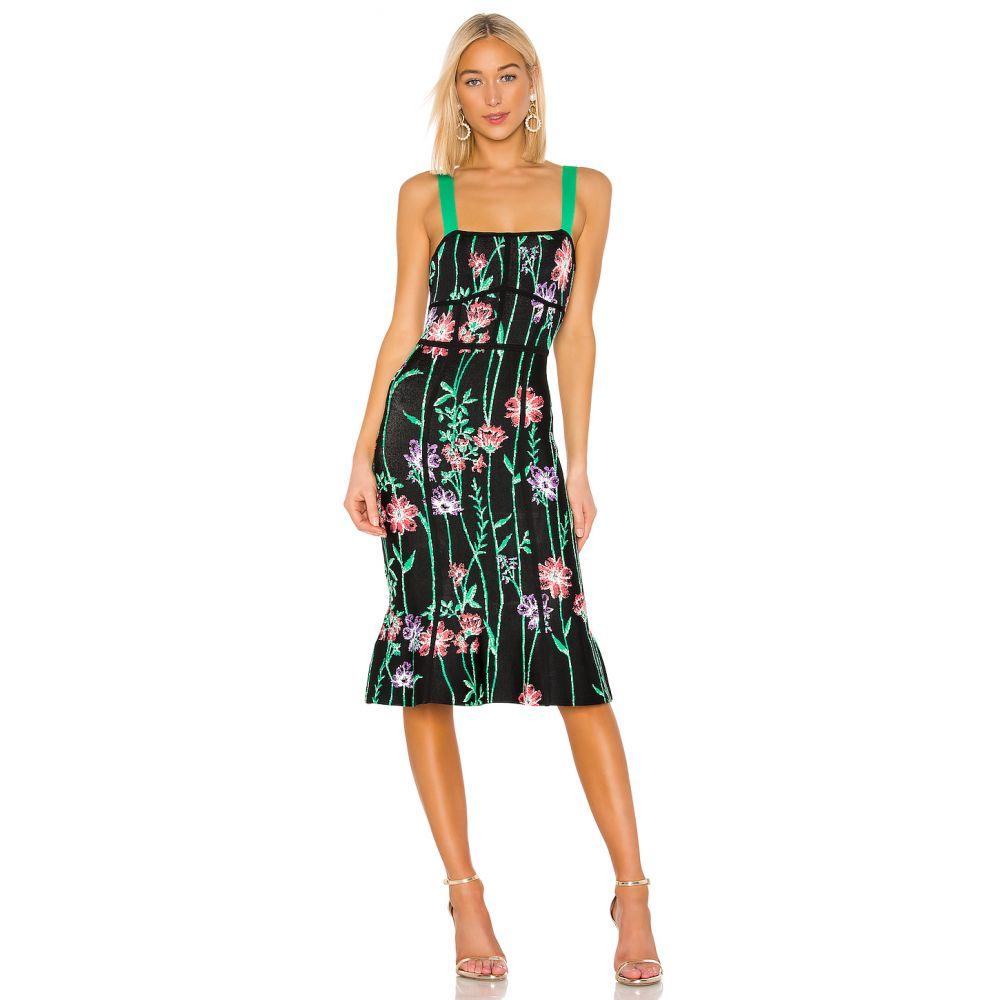 ビーシービージーマックスアズリア BCBGMAXAZRIA レディース ワンピース ワンピース・ドレス【Floral Midi Dress】Black Combo