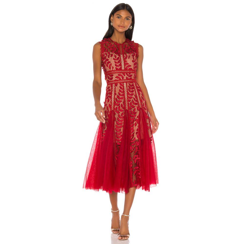 ブロンクス アンド バンコ Bronx and Banco レディース ワンピース ワンピース・ドレス【Saba Maroon Midi Dress】Maroon