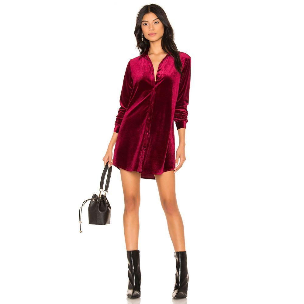 スーパーダウン superdown レディース ワンピース ワンピース・ドレス【Vella Velvet Mini Dress】Wine Red