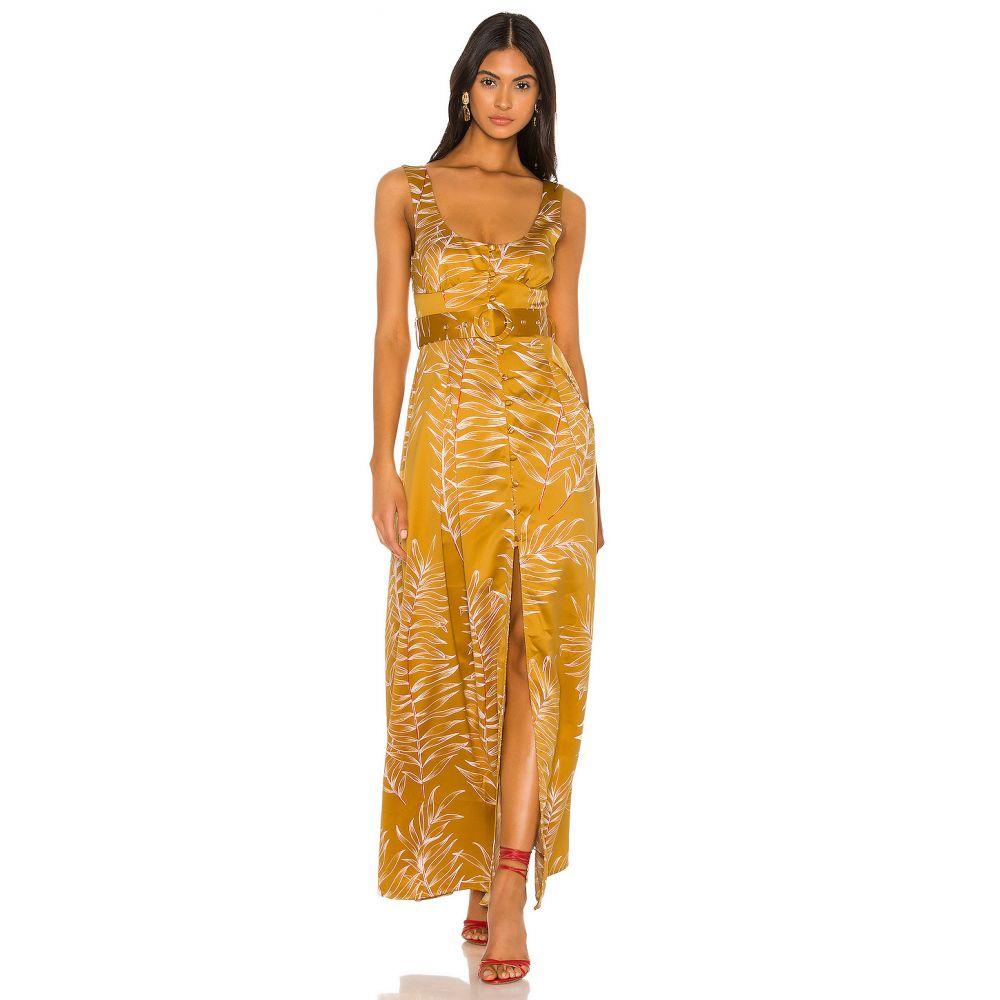 カミラ コエーリョ Camila Coelho レディース ワンピース ワンピース・ドレス【Belmira Maxi Dress】Gold Tropical