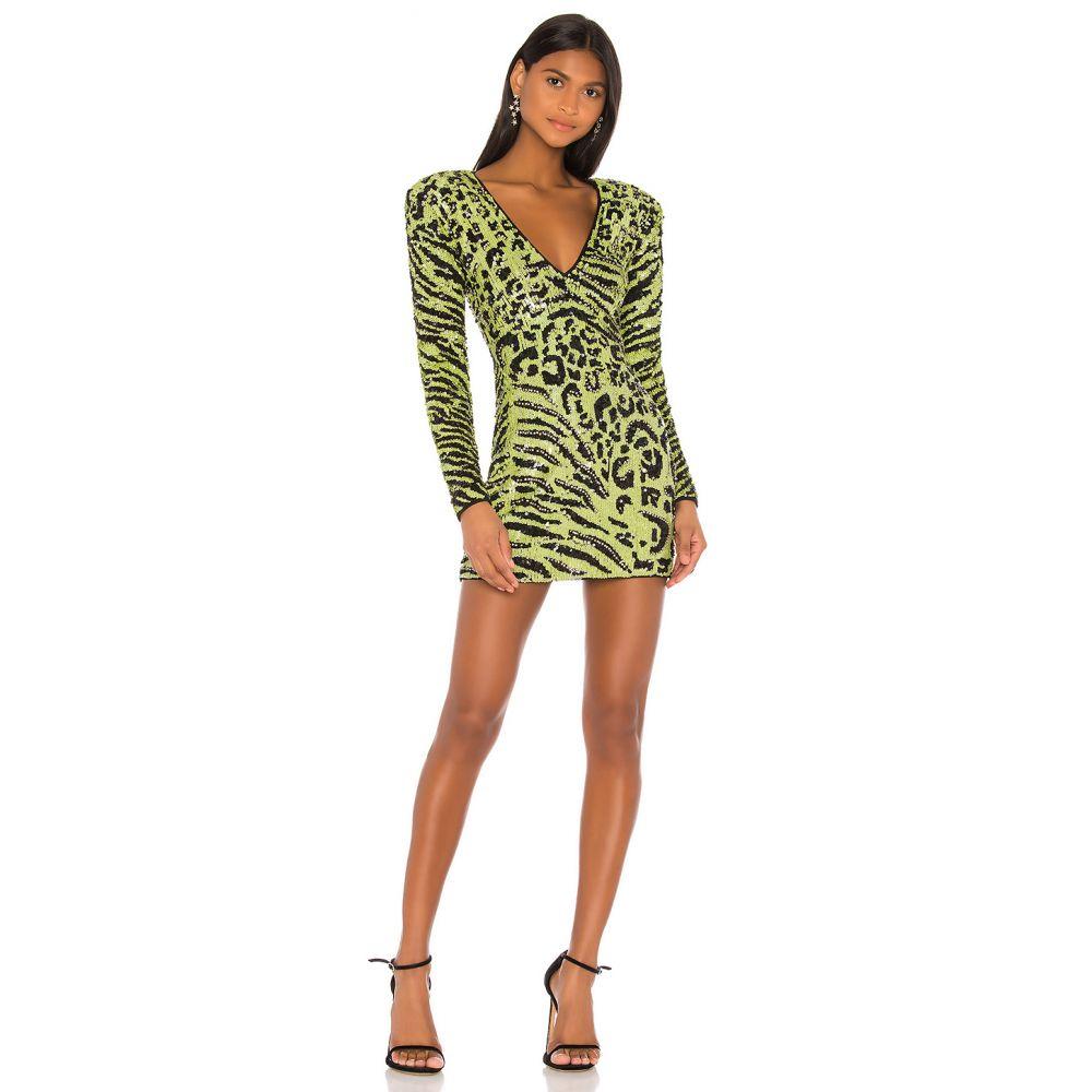 カミラ コエーリョ Camila Coelho レディース ワンピース ワンピース・ドレス【Cardi Embellished Dress】Lime Green