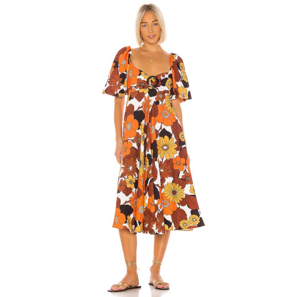 ドド バー オア Dodo Bar Or レディース ワンピース ワンピース・ドレス【Mor Dress】Orange Brown Flower