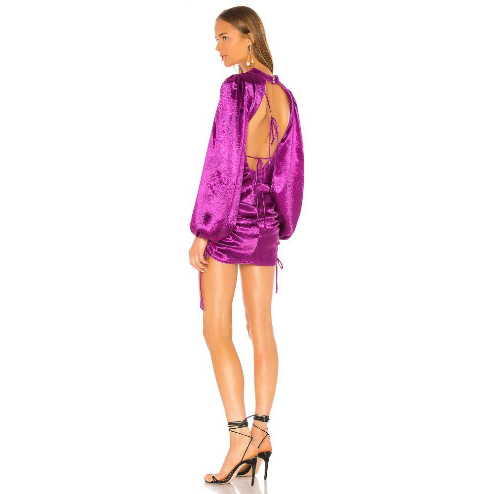 フォーラブアンドレモン For Love & Lemons レディース ワンピース ワンピース・ドレス【Lennox Metallic Dress】Electric Purple