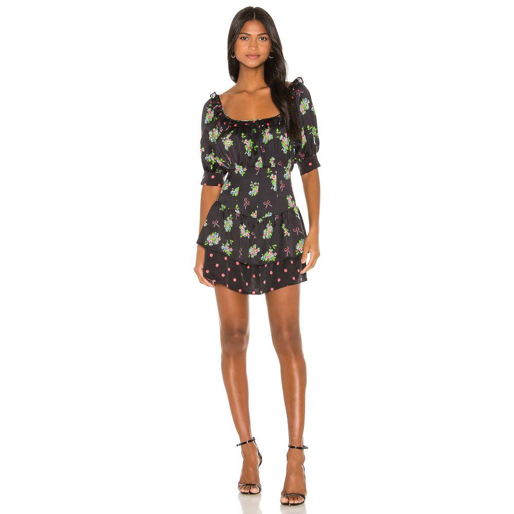 フォーラブアンドレモン For Love & Lemons レディース ワンピース ワンピース・ドレス【Wilson Print Mix Mini Dress】Black Floral