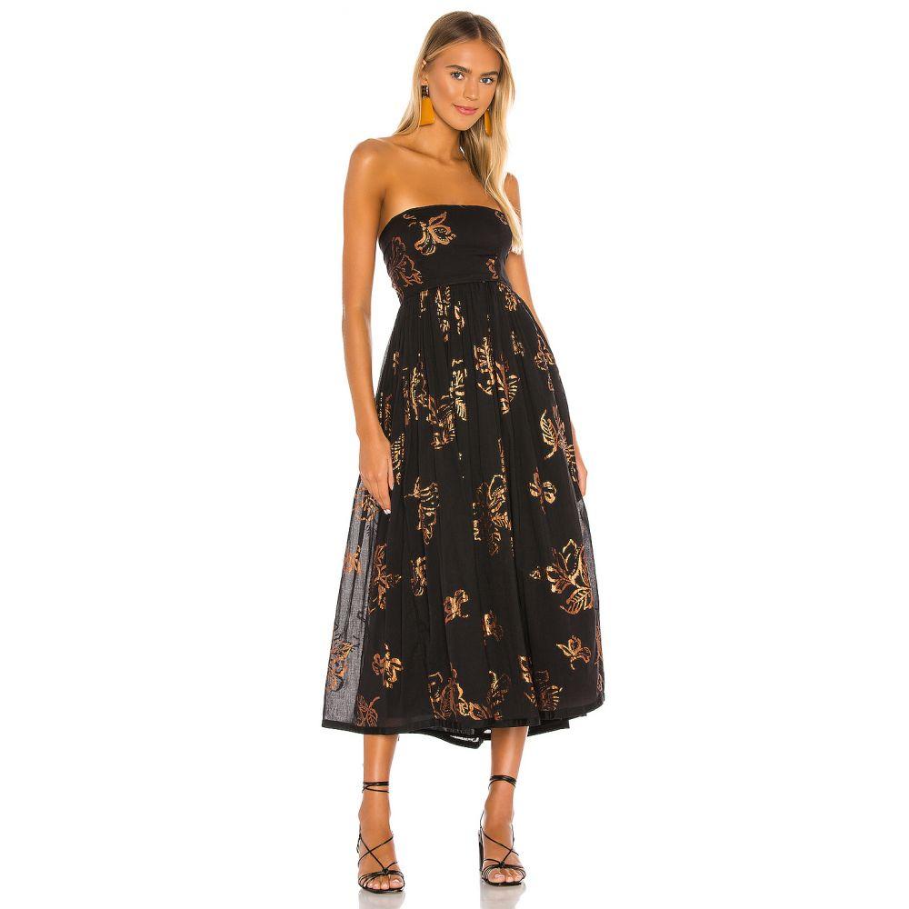 フリーピープル Free People レディース ワンピース ワンピース・ドレス【Baja Babe Midi Dress】Black Combo