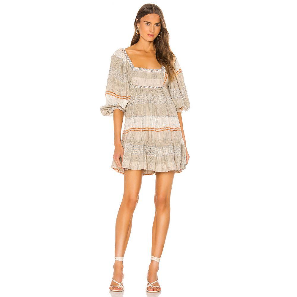 フリーピープル Free People レディース ワンピース ワンピース・ドレス【Cozy Striped Mini Dress】Ivory Combo