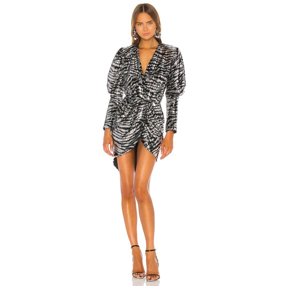 ジュゼッペ ディ モラビト GIUSEPPE DI MORABITO レディース ワンピース ワンピース・ドレス【Zebra Stripe Dress】Black/Silver