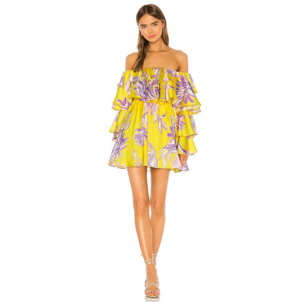ハウスオブハーロウ1960 House of Harlow 1960 レディース ワンピース ワンピース・ドレス【x REVOLVE Julita Mini Dress】Yellow Dahlia Floral