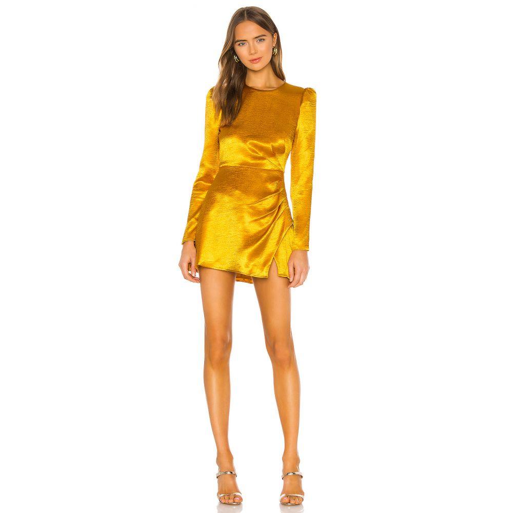 ハウスオブハーロウ1960 House of Harlow 1960 レディース ワンピース ワンピース・ドレス【x REVOLVE Krisha Mini Dress】Yellow Gold