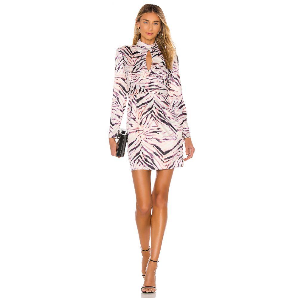 ケンダル&カイリー KENDALL + KYLIE レディース ワンピース ワンピース・ドレス【Shirred Neck Keyhole Dress】Zebra