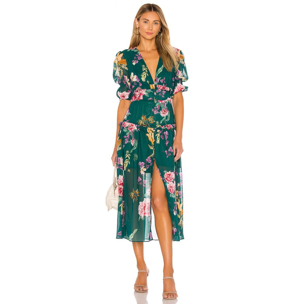 キープセイク keepsake レディース ワンピース ワンピース・ドレス【About Us Midi Dress】Jade Botanic Floral
